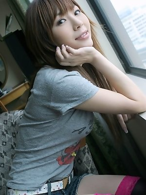 Shy and lovely Hayase has a tight body she likes to show off to the guys